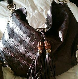 Gucci brown chocolate saddle bag
